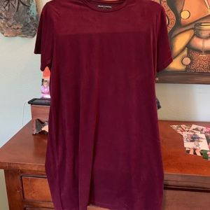 Brandy Melville suede T-shirt dress